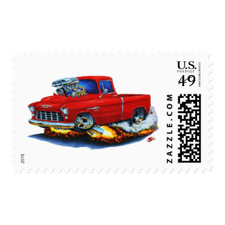 1955 Chevy Pickup Red Truck Postage