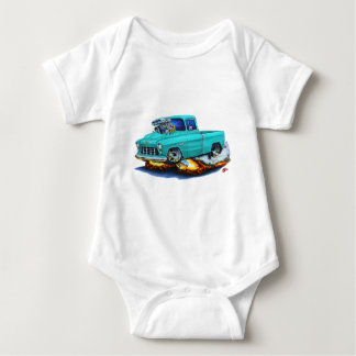 1955 Chevy Pickup Turquoise Truck Baby Bodysuit