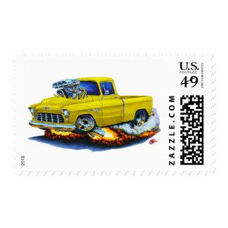 1955 Chevy Pickup Yellow Truck Postage Stamp