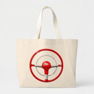 1955 Chevy Red Steering Wheel Jumbo Tote Bag