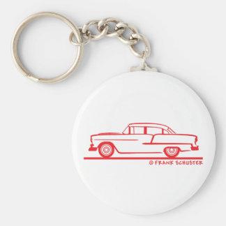 1955 Chevy Sedan Basic Round Button Keychain