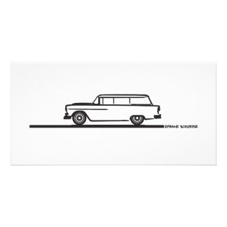 1955 Chevy Station Wagon Card