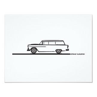 1955 Chevy Station Wagon 4.25x5.5 Paper Invitation Card