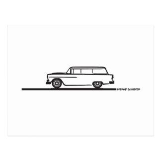1955 Chevy Station Wagon Postcard