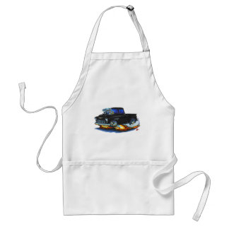 1955 Chevy Stepside Pickup Black Truck Adult Apron