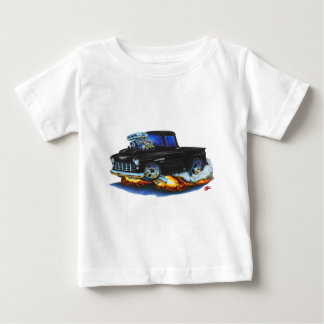 1955 Chevy Stepside Pickup Black Truck Baby T-Shirt