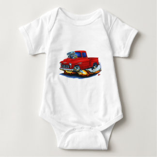 1955 Chevy Stepside Pickup Red Truck Baby Bodysuit