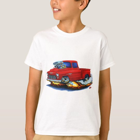 1955 Chevy Stepside Pickup Red Truck T-Shirt