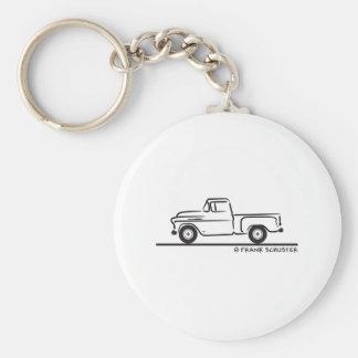 1955 Chevy Truck Basic Round Button Keychain
