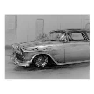 1955 custom Chevrolet coach Postcard
