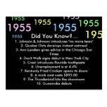 1955 did you know? postcard