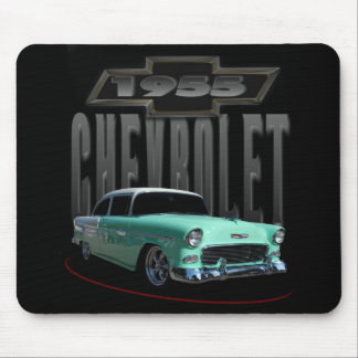 1955 Green Sedan Mouse Pad