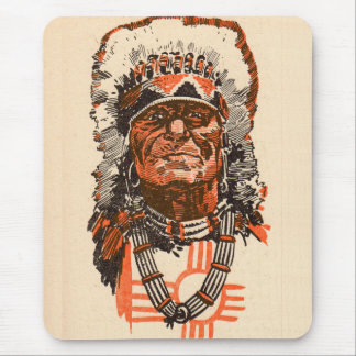 1955 Indian chief from Billy the Kid (UK) comics Mouse Pad
