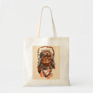 1955 Indian chief from Billy the Kid (UK) comics Tote Bag
