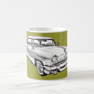 1955 Lincoln Capri Luxury Car Illustration Coffee Mug