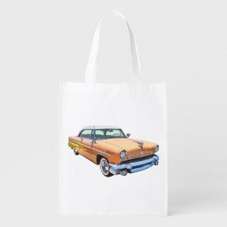 1955 Lincoln Capri Luxury Car Reusable Grocery Bags