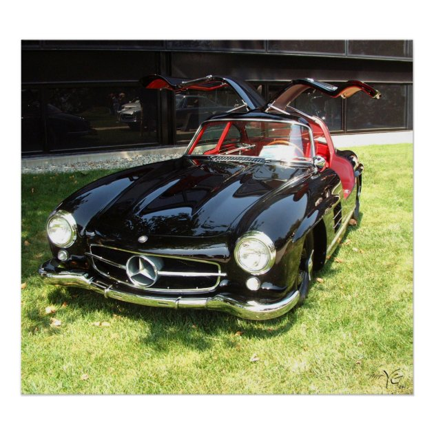 MERCEDES BENZ 300SL CLASSIC CAR LARGE METAL WALL SIGN PLAQUE PICTURE GARAGE NEW