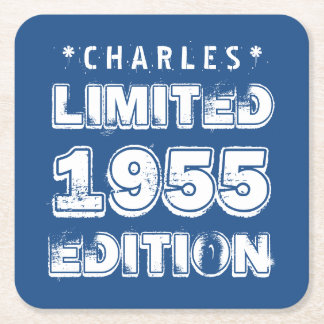 1955 or Any Year Birthday Limited Edition 60th A01 Square Paper Coaster