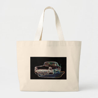 1955 Packard Large Tote Bag