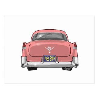 1955 Pink Cadillac Postcard