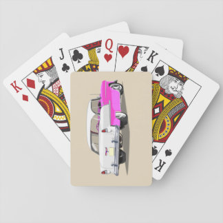 1955 Shoebox Playing Cards Pink and White