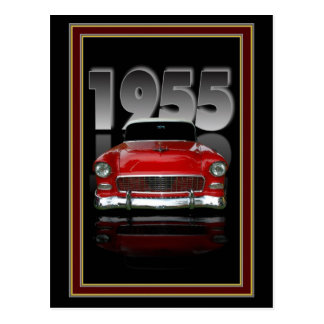 1955  streetrod postcard