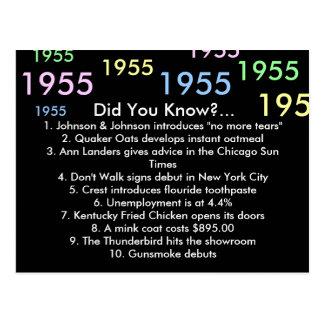 ¿1955 usted sabía? tarjeta postal