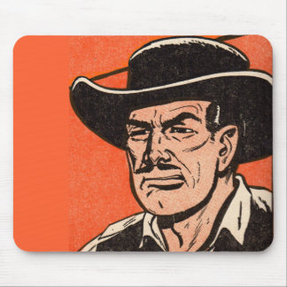 1955 Western bad guy from Billy the Kid comics Mouse Pad