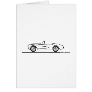 1956 1957 Chevrolet Corvette Greeting Card