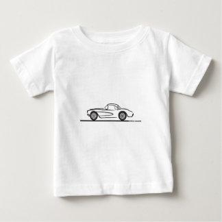 1956 1957 Chevrolet Corvette Hardtop Baby T-Shirt