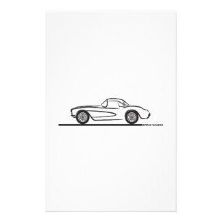 1956 1957 Chevrolet Corvette Hardtop Papeleria De Diseño