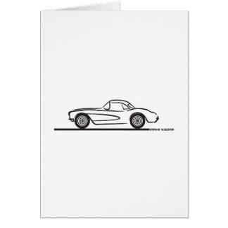1956 1957 Chevrolet Corvette Hardtop Tarjeta De Felicitación