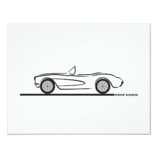 1956 1957 Chevrolet Corvette 4.25x5.5 Paper Invitation Card