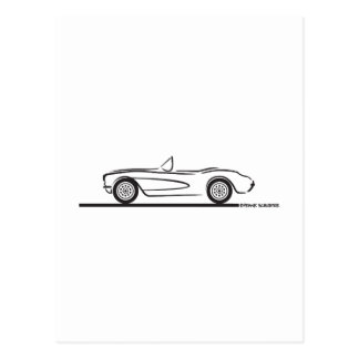 1956 1957 Chevrolet Corvette Tarjeta Postal