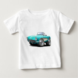 1956-57 Corvette Aqua Car Baby T-Shirt