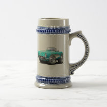 1956-57 Corvette Aqua Car Beer Stein