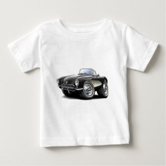 1956-57 Corvette Black Car Baby T-Shirt
