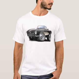 1956-57 Corvette Black Car T-Shirt