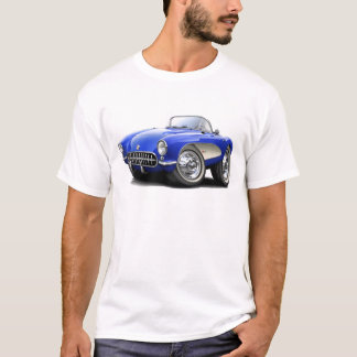 1956-57 Corvette Blue Car T-Shirt