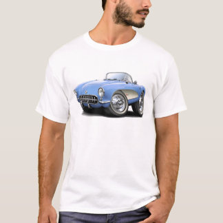1956-57 Corvette Lt Blue Car T-Shirt