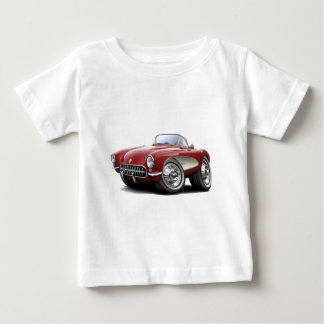 1956-57 Corvette Maroon Car Baby T-Shirt