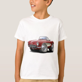 1956-57 Corvette Maroon Car T-Shirt