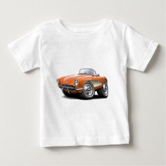1956-57 Corvette Orange Car Baby T-Shirt
