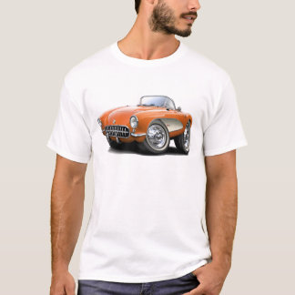 1956-57 Corvette Orange Car T-Shirt