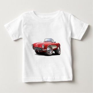 1956-57 Corvette Red Car Baby T-Shirt