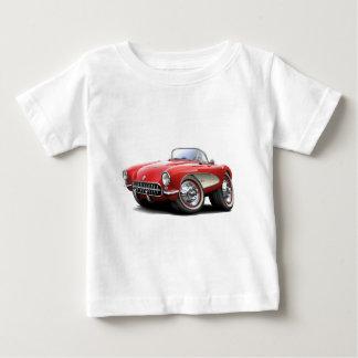 1956-57 Corvette Red Car Baby T-Shirt