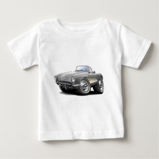 1956-57 Corvette Silver Car Baby T-Shirt