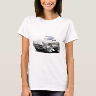 1956-57 Corvette White Car T-Shirt