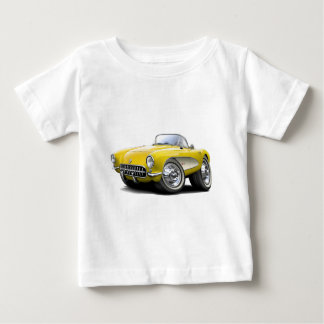 1956-57 Corvette Yellow Car Baby T-Shirt