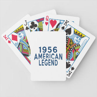 1956 American Legend Birthday Designs Bicycle Playing Cards